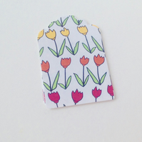Card Gift,Message Tags,Pk of 30,'Spring Tulips'