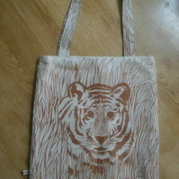 Wild life big shopper bag, fully lined with Keyring attachment