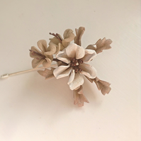 Burnished bronze floral pin