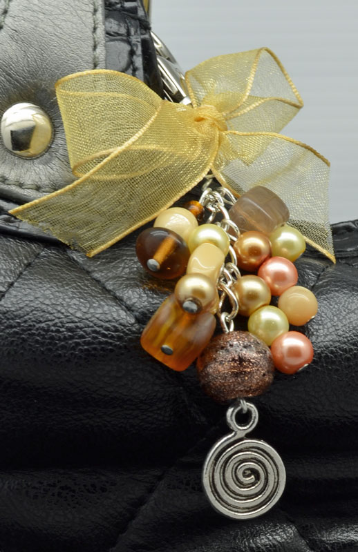 SALE Gold Swirl Handbag Charm