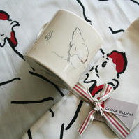 Chicken Gift set mug and t-towel
