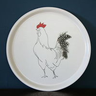 Tray with Edward Cockerel