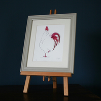 Monsieur Caisse Chicken Print