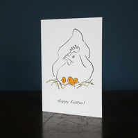 Easter card with straw
