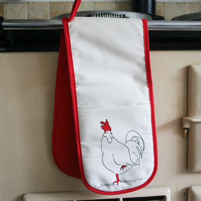 Chicken Oven Glove Red