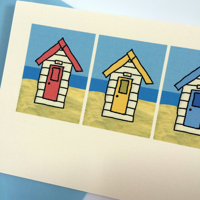 Pack of 6 Beach Hut Cards