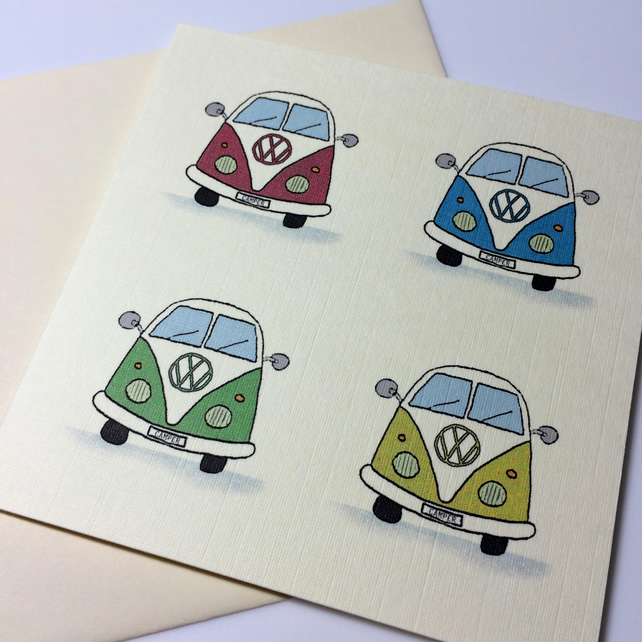 Camper van Greeting Card.