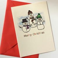 Snowmen Christmas Cards - Pack of 6