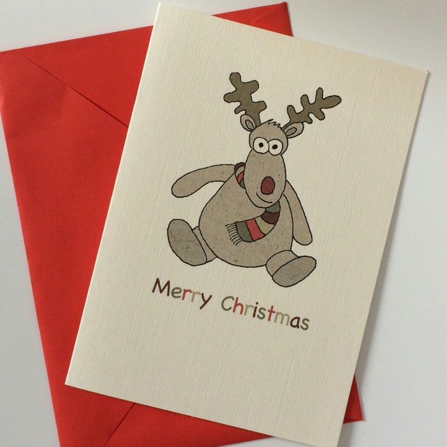 Reindeer Christmas Cards - Pack of 8