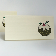 Christmas Pudding place Cards - Pack of 12