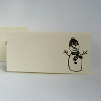Snowman Place Cards - Pack of 12