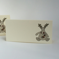 Reindeer Place Cards - Pack of 12