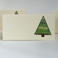 Christmas Tree Place Cards - Pack of 12