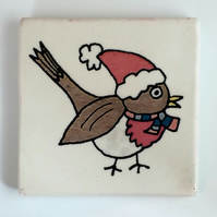 Ceramic Robin Coaster