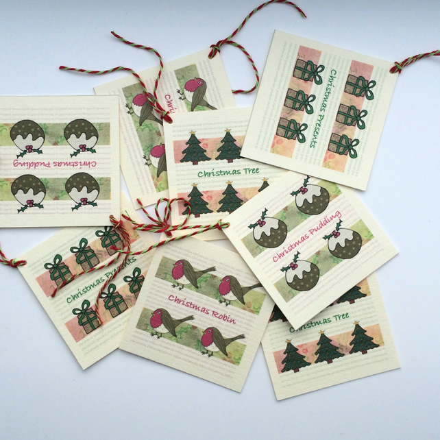 Assorted Christmas Tags - Pack of 8