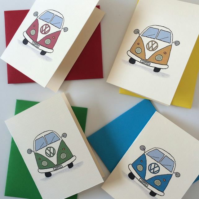 Small Camper Van Note Cards