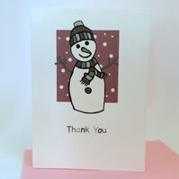 Snowman Thank you Cards Pack of 6