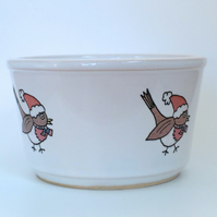 Ceramic Robin Snack Bowl