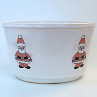 Santa Ceramic Snack Bowl