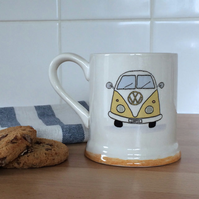 Yellow Camper Van Tea-Coffee Mug