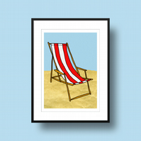 Deckchair Illustration Print