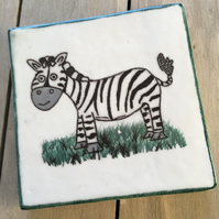Zebra Ceramic Coaster