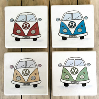 Ceramic Campervan Coasters