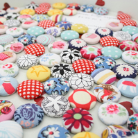 fabric covered fridge magnets (pack of 6)