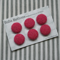tweed covered buttons