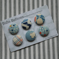 Fabric covered buttons - 1930s