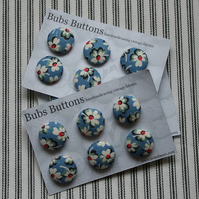 Fabric covered buttons - vintage