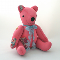 Handmade one-off collectable teddy bear