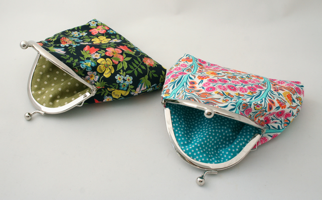 Liberty fabric purse