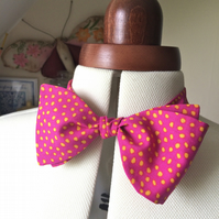 beautiful handmade fabric bow tie
