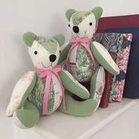 Handmade keepsake memory teddy bear - large