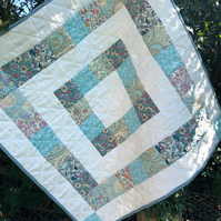 Stunning Liberty fabric patchwork baby quilt playmat