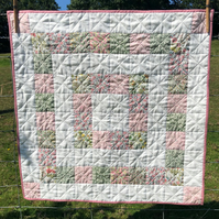 Pretty Liberty fabric patchwork baby quilt playmat
