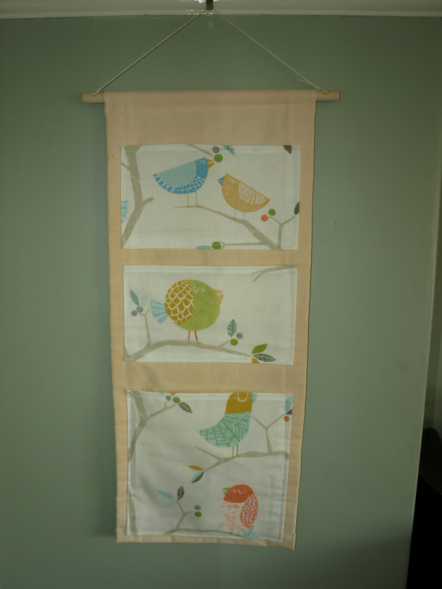 nursery wall hanging storage pockets folksy