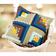 Log Cabin Cushion Kit level Beginner