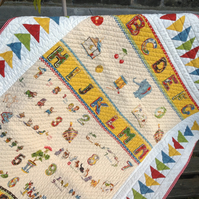 ABC Panel Flying Geese Patchwork Quilt kit - beginner with challenge