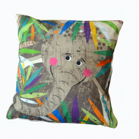 Elephant Jungle Buddy Cushion