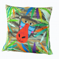 Baboon Jungle Buddy Cushion