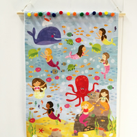 Mermaid Wall Banner