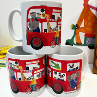 Double Decker Bus - Jungle Buddies Mug