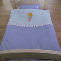"Dolls Quit and Pillow Set ""Ballerina"""