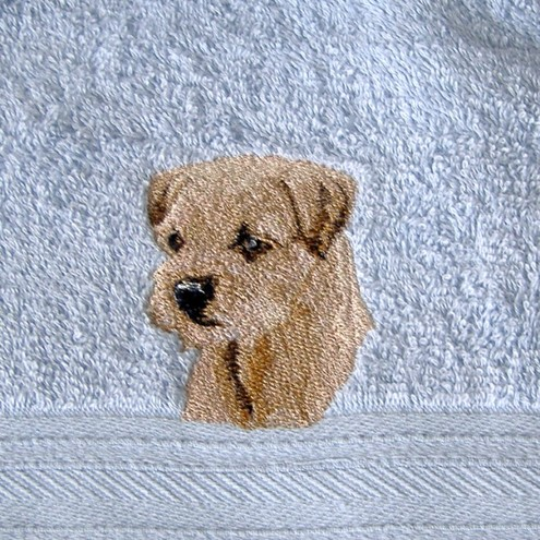 Border Terrier Embroidery Design  Dog Breeds Picture