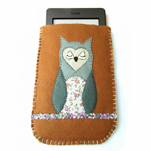 Felt Kindle Case - Touch - Owl