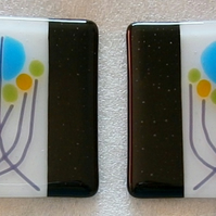 Charles Rennie Mackintosh inspired fused glass coasters