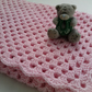Baby blanket crochet pattern tutorial