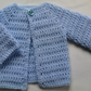 Baby sweater crochet pattern tutorial